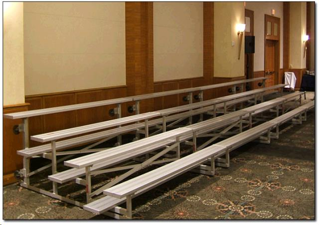 Where to find BLEACHER, 3 Row 4.5  W x 7.5' L in Dallas