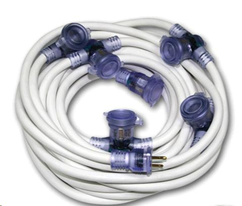 Where to find 50  White Multi Plug Ext. Cord in Dallas