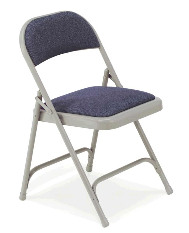 Where to find GREY PADDED FOLDING CHAIR in Dallas