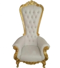 Rental store for CHAIR, WHITE   GOLD THRONE in Dallas TX
